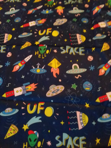 "Space Ship Aliens UFO Large 29"" x 45"" Changing Mat Pad Cpad133"