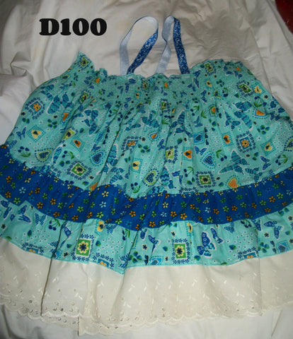 D100 Butterflies & Flowers Smock Dress