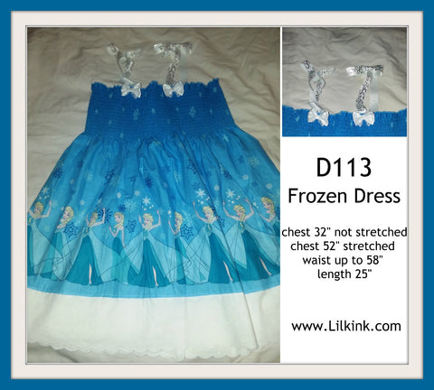 D113 Frozen Princess smock dress