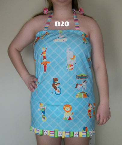 D20 Circus Big Top Halter Dress Clearance