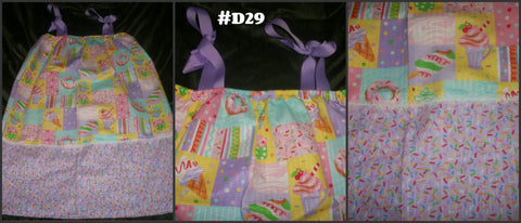 D29 Ice cream Seersucker Pillow Case Style DRESS