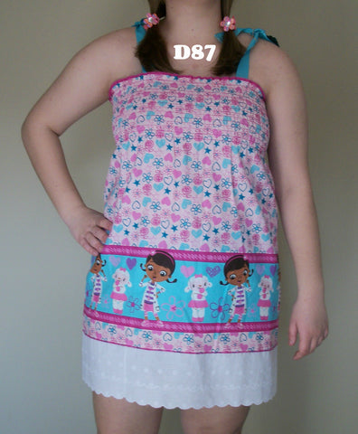 D87 Dr Mcstuffins smock dress