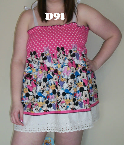 Dress SMOCK DRESS D91 MINNIE MOUSE DRESS Clearance