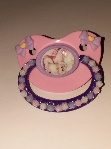 Pony CAROUSEL HORSE Deluxe Custom Pacifier DCP192