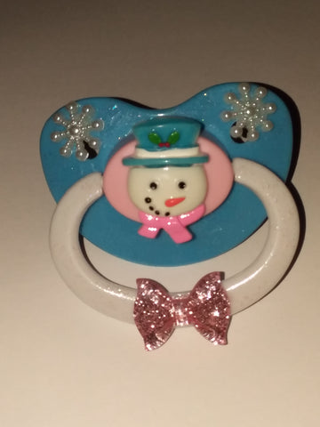 Holiday Snowman Deluxe Custom Pacifier DCP195