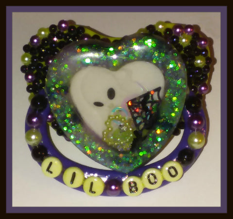 TINY TERRORS Deluxe Pacifier Heart Shaker Lil Boo DCP410
