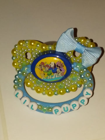 80'S CARTOON Dog Deluxe Custom Pacifier DCP458