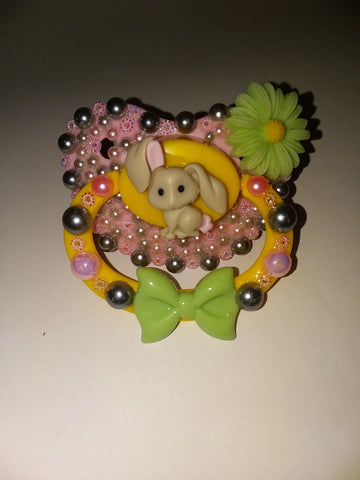 Easter Lil Bunny Deluxe Custom Pacifier DCP511