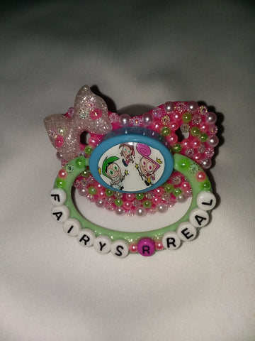 2000's Cartoon Fairy DELUXE CUSTOM PACIFIER DCP583