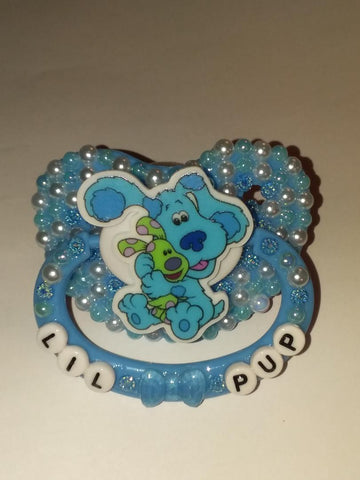 DOG BLUE Lil Pup Deluxe Custom Pacifier DCP609