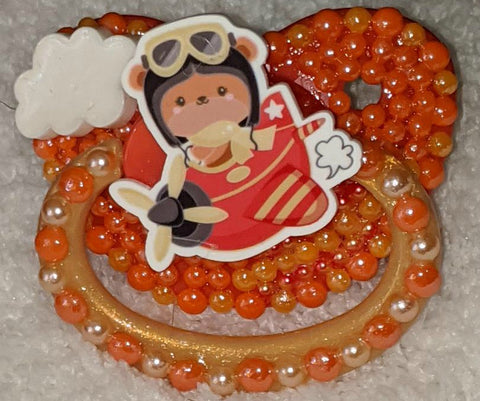 Bear in a Plane Deluxe Custom Pacifier DCP825