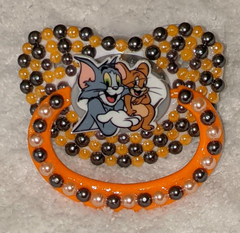 80'S CARTOON CAT & MOUSE Deluxe Custom Pacifier DCP906