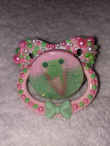 FROGGIE TREATS Deluxe Custom Pacifier DCP961 DESIGNED BY KEROKEROKOUHAI