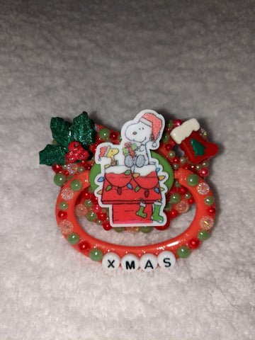 Christmas Holiday Xmas Dog Deluxe Custom Pacifier DCP971