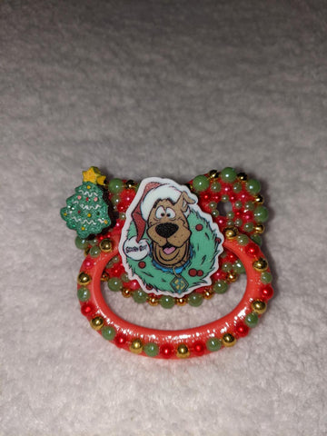 Christmas Holiday Scooby Dog Deluxe Custom Pacifier DCP974