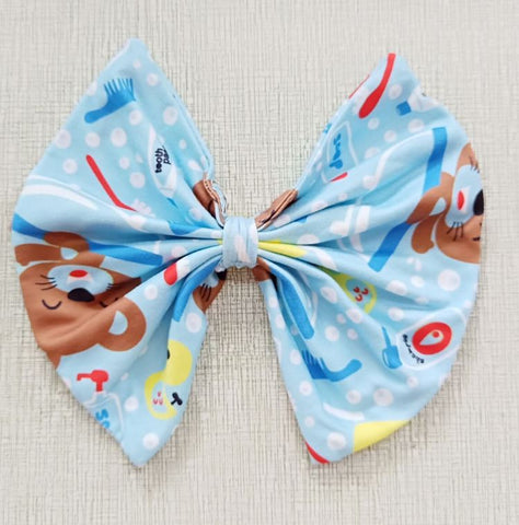 BATH TIME MATCHING Boutique Fabric Hair Bow FHB142