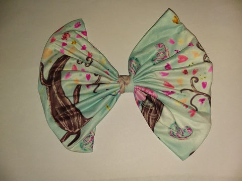 DISCONTINUED ENCHANTED FOREST OF FAIRIES MATCHING Boutique Fabric Hair Bow FHB157
