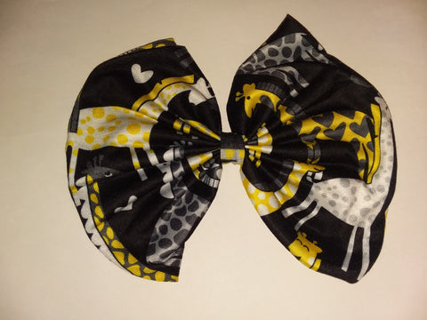 DISCONTINUED GIRAFFE MATCHING Boutique Fabric Hair Bow Clearance