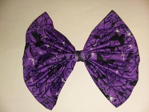 TWILIGHT BUTTERFLIES MATCHING Boutique Fabric Hair Bow FHB168