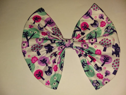 MY LIL DEER MATCHING Boutique Fabric Hair Bow FHB169