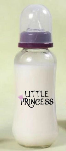 DISCONTINUED Little Princess 9.4 oz Glass Baby Bottle with ADULT Teat GBB105