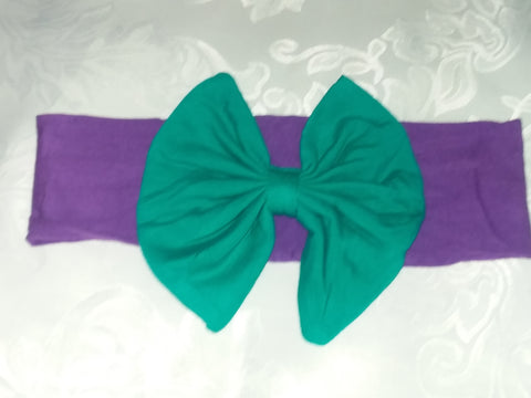 Lil' Water Mermaid Matching Boutique Fabric Hairband Bow HB114