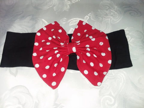 Lil' Baby Mouse Matching Boutique Fabric Hairband Bow HB117