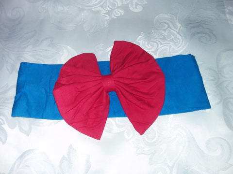 Hairband DISCONTINUED Lil' Pretty Girl Matching Boutique Fabric Hairband Bow HB118 clearance