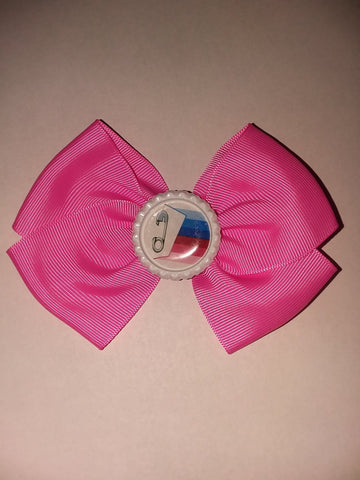 ABDL Pride Flag Bottle Cap Boutique Hair Bow HB602