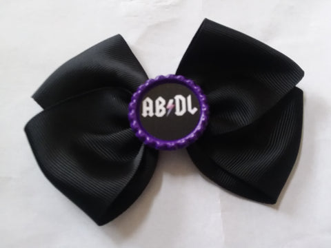 AB/DL Bottle Cap Boutique Hair Bow HB713