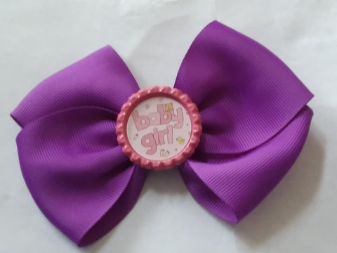 Baby Girl Bottle Cap Boutique Hair Bow HB728