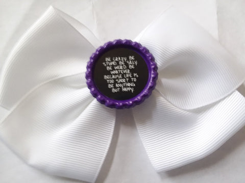 Be Crazy Bottle Cap Boutique Hair Bow HB736