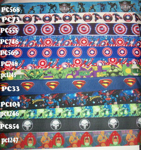 "Super Hero Crafted Pacifier Dummy Clip - 11""-12"""