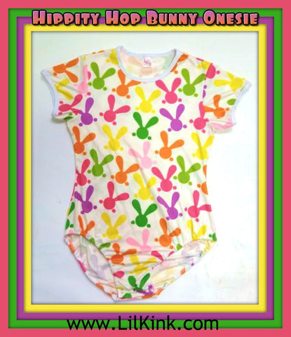 DISCONTINUED Short Sleeve Hippity Hop Bunny Short Sleeve Onesie size xs-4x * New Size Chart Cleatrance