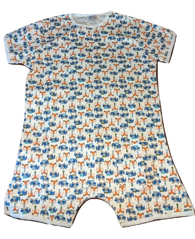 Squishyabdl cotton Fox & Raccoons pattern Romper Onesie - Limited Stocked (Special Size chart)