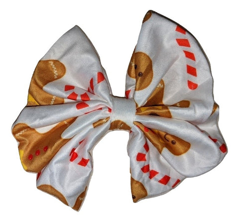 Ginger Bread cookie Holiday Matching large Hair Bow