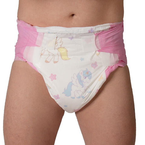 Tykables Unicorns Diapers ABDL Adult Diaper -1 Single Diaper Sample