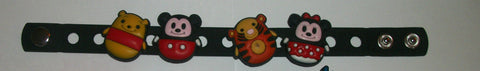 Bear PB & Mouse New Super Cute Silicone Jibbiz Bracelet JB100