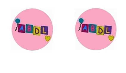 ABDL Adult Lifestyle Boutique Cabochon Stud Earrings LSE105