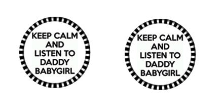 LISTEN TO DADDY Adult ABDL Lifestyle Cabochon Stud Earrings LSE108