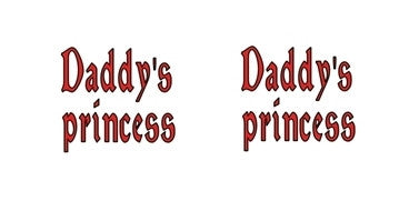 Daddy's Princess Red Adult BDSM ABDL Lifestyle Cabochon Stud Earrings LSE306