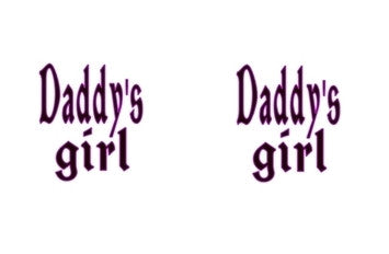 Daddy's Girl Adult BDSM ABDL Lifestyle Cabochon Stud Earrings LSE308