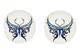 Butterfly Cabochon Stud Earrings LSE311