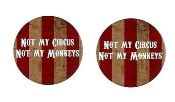 Not my Circus Cabochon Stud Earrings LSE318