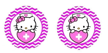 Kitty Nurse Cabochon Stud Earrings LSE322