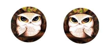 Owls Cabochon Stud Earrings LSE327