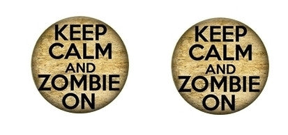 Zombie on Cabochon Stud Earrings LSE334
