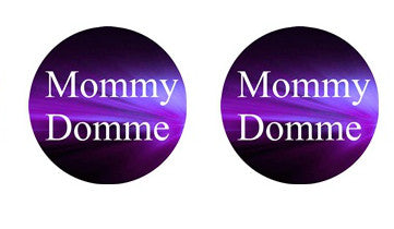 Mommy Dommy Adult BDSM ABDL Lifestyle Cabochon Stud Earrings LSE353