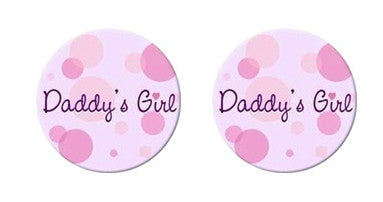 Daddy's Girl Adult BDSM ABDL Lifestyle Cabochon Stud Earrings LSE355