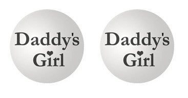 Daddy's Girl Adult BDSM ABDL Lifestyle Cabochon Stud Earrings LSE356